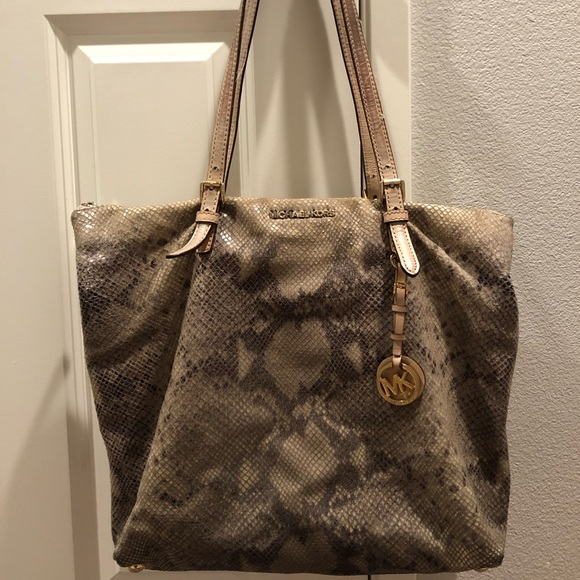 Michael Kors Handbags - Michael Kors Snake Print Leather Bag
